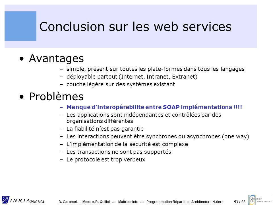 Conclusion sur les web services