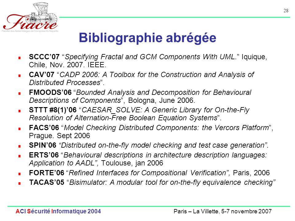 Bibliographie abrégée