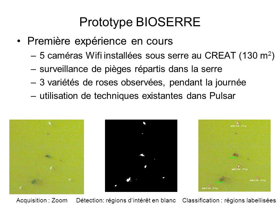 Prototype BIOSERRE Première expérience en cours