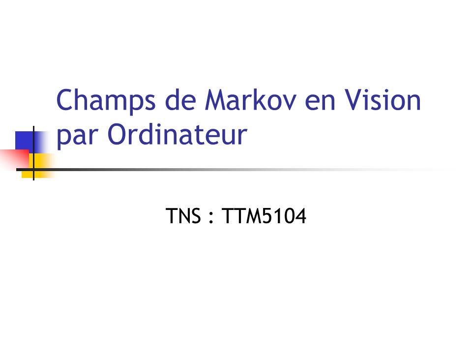 Champs de Markov en Vision par Ordinateur