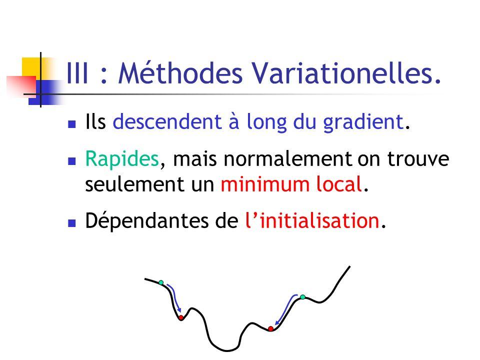 III : Méthodes Variationelles.