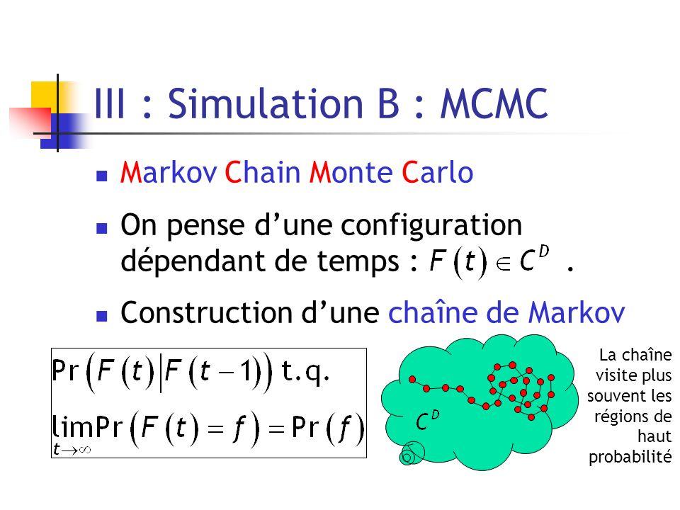 III : Simulation B : MCMC