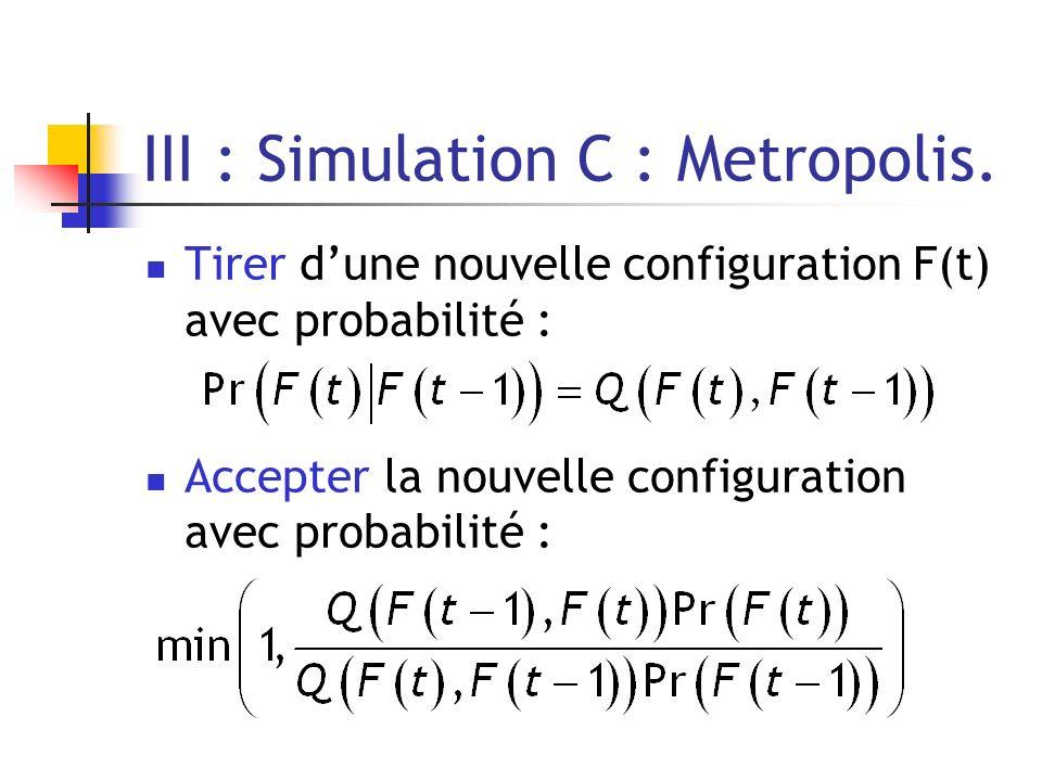 III : Simulation C : Metropolis.