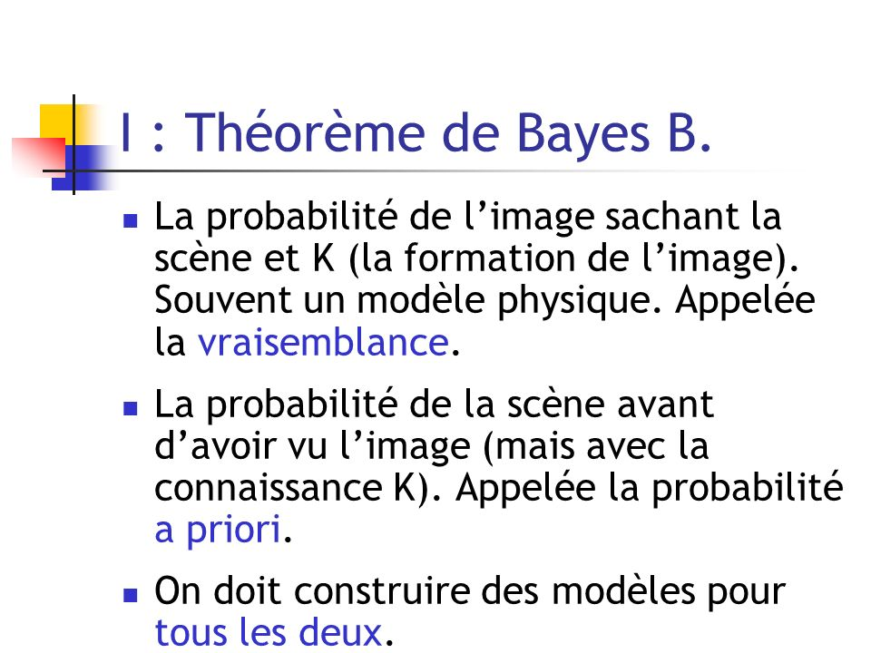 I : Théorème de Bayes B.