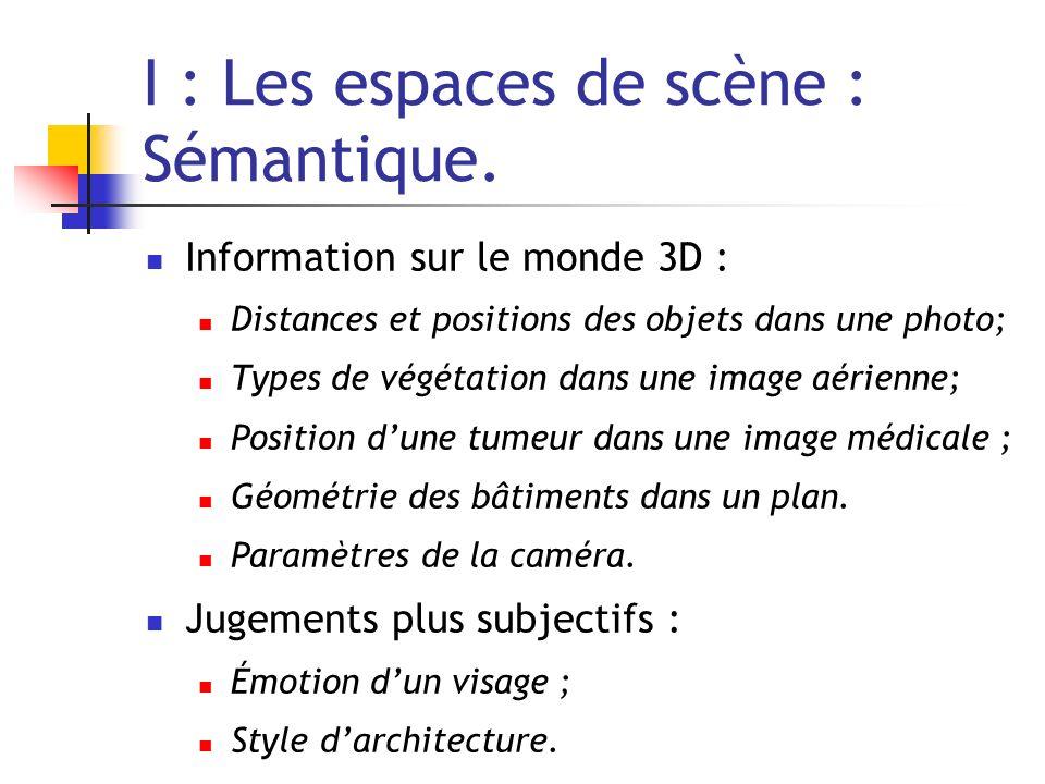 I : Les espaces de scène : Sémantique.