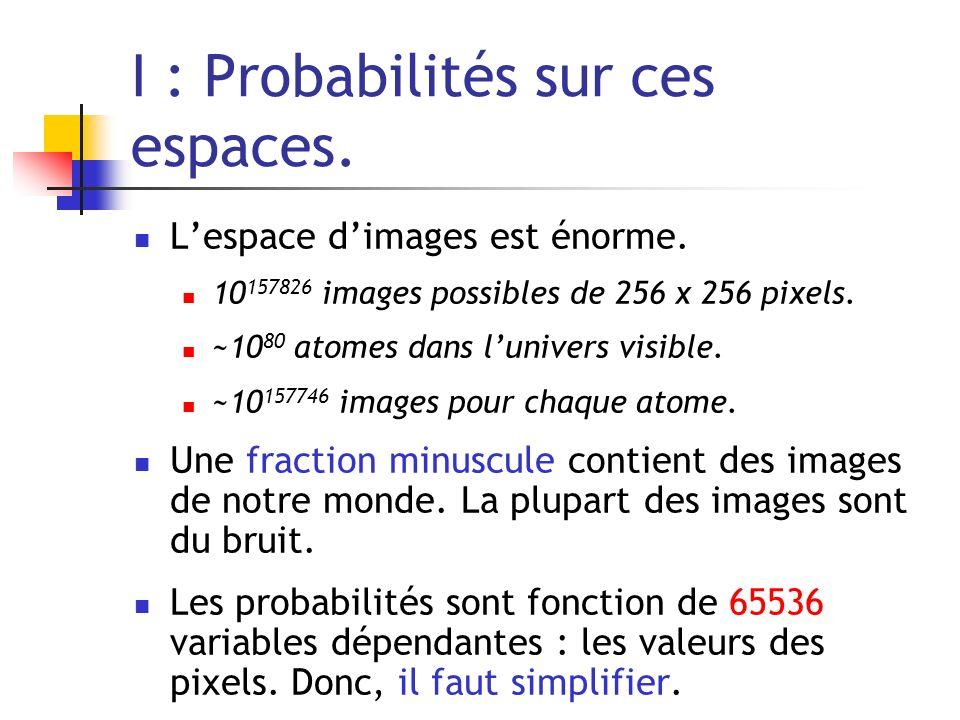 I : Probabilités sur ces espaces.