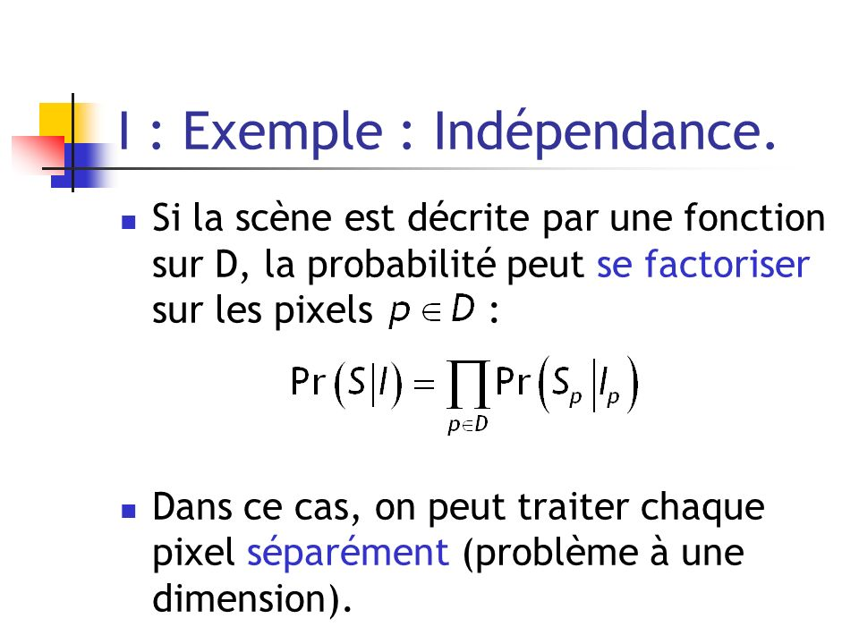 I : Exemple : Indépendance.