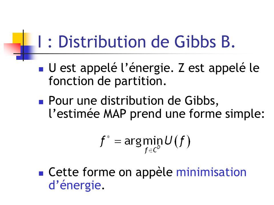 I : Distribution de Gibbs B.