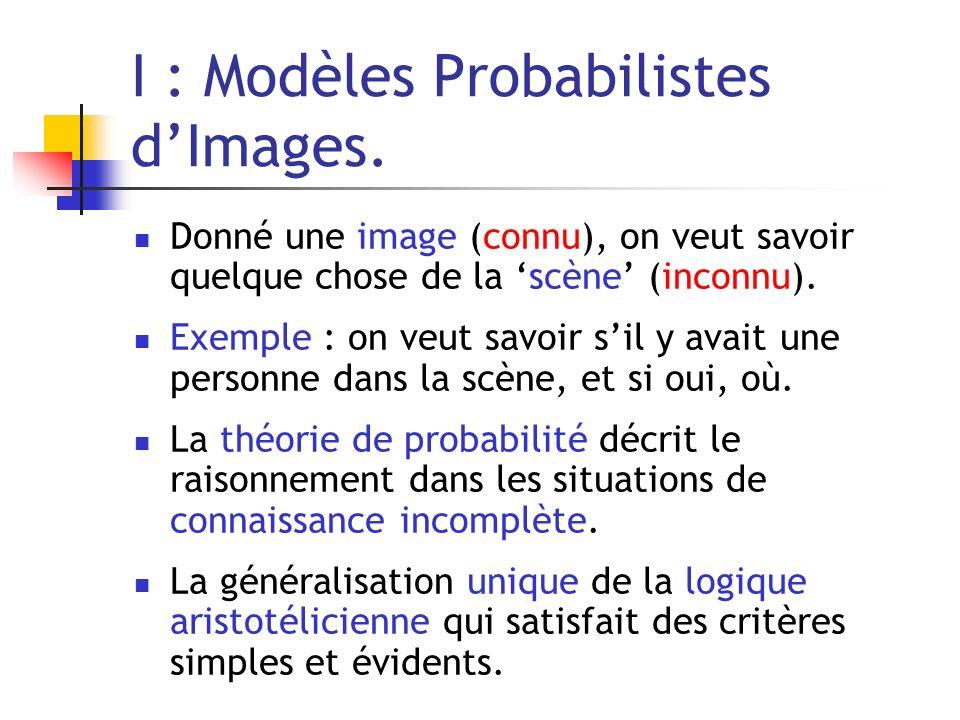 I : Modèles Probabilistes d'Images.