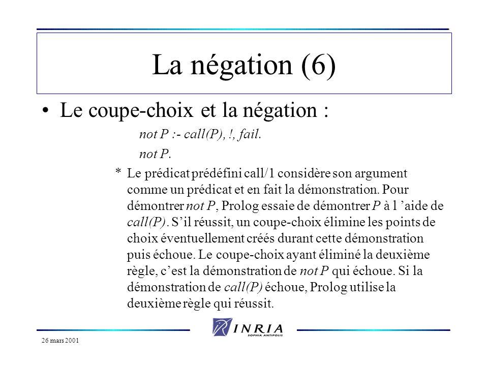 La négation (6) Le coupe-choix et la négation :