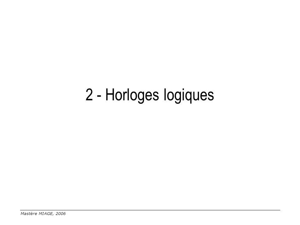2 - Horloges logiques