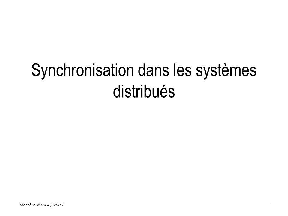 Synchronisation dans les systèmes distribués