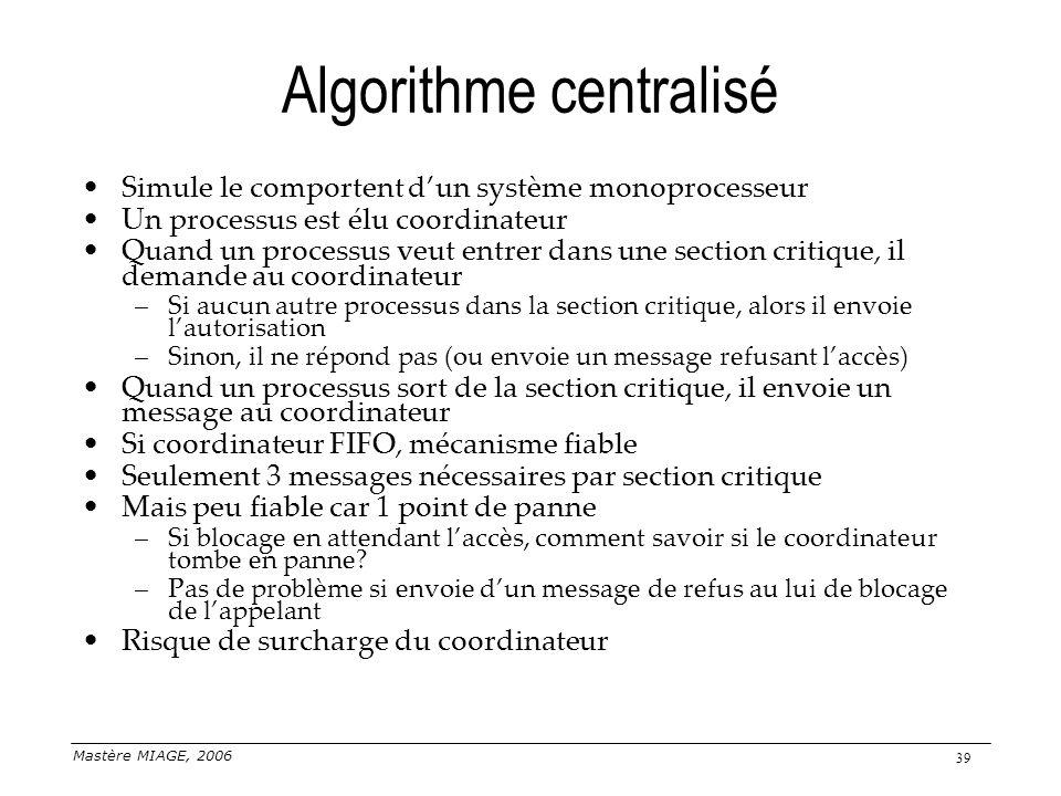 Algorithme centralisé