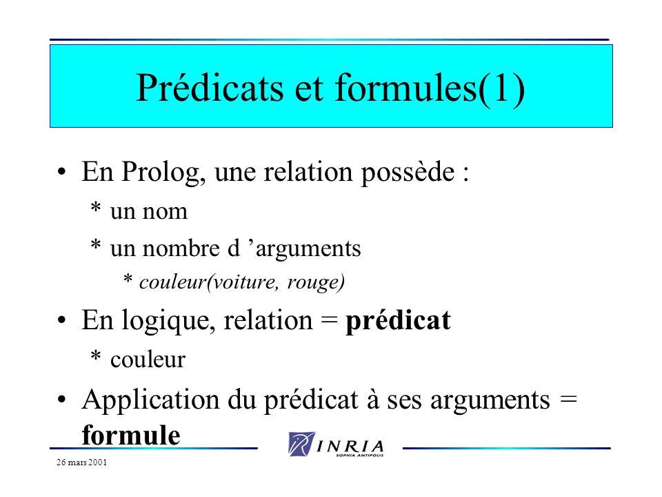 Prédicats et formules(1)