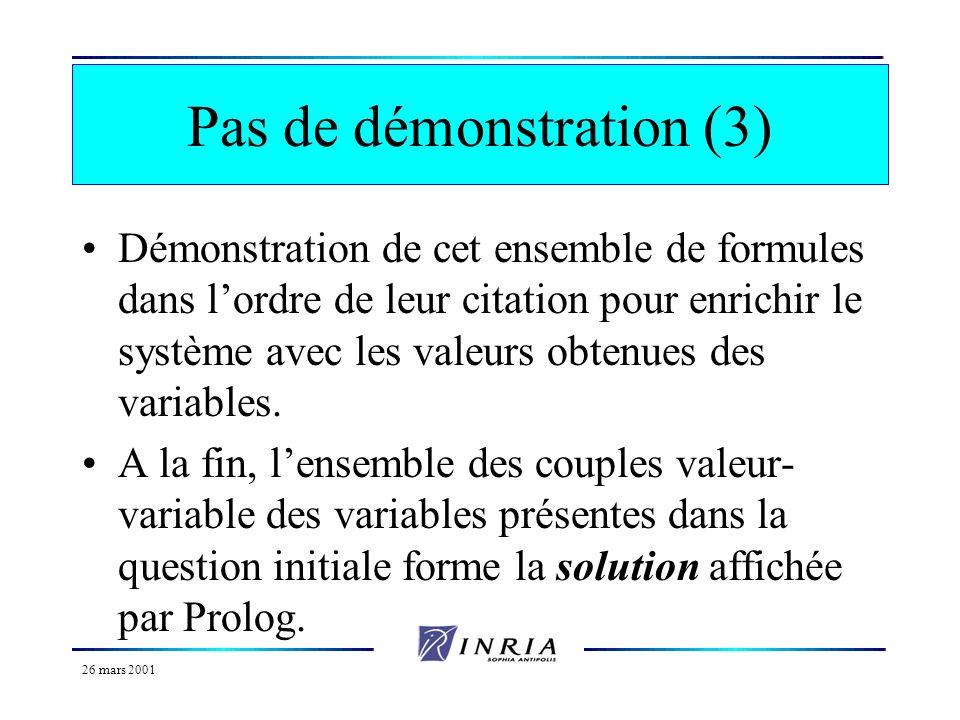 Pas de démonstration (3)
