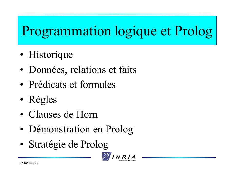 Programmation logique et Prolog