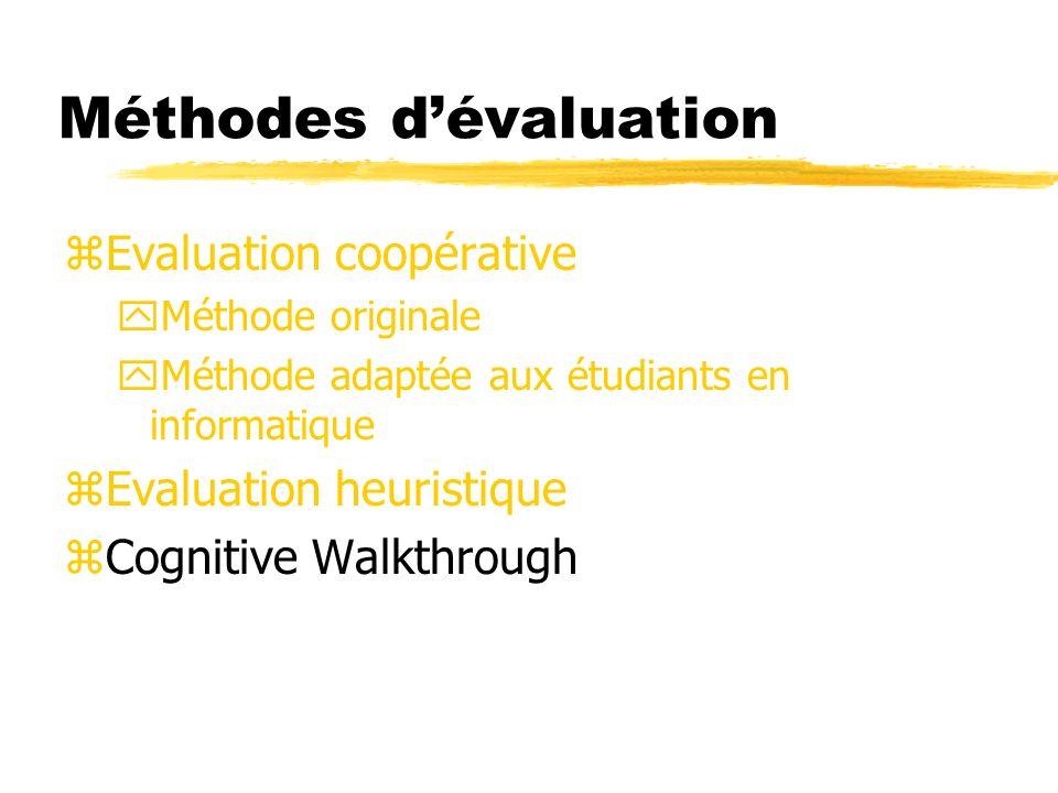 Méthodes d'évaluation