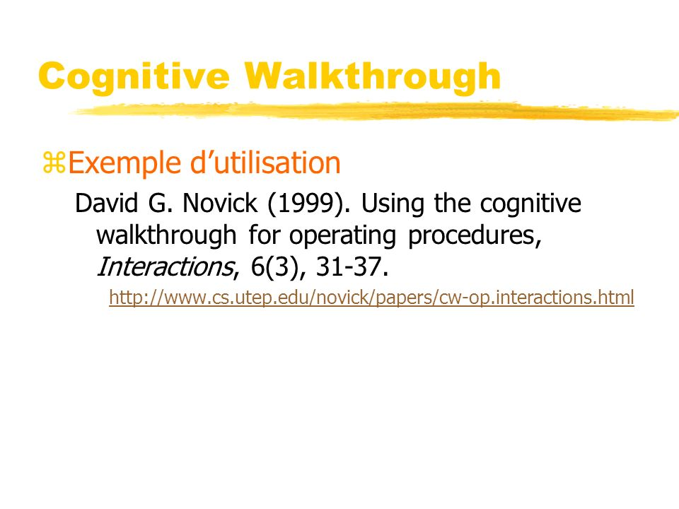 Cognitive Walkthrough