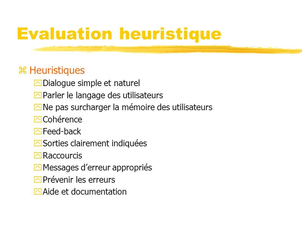 Evaluation heuristique