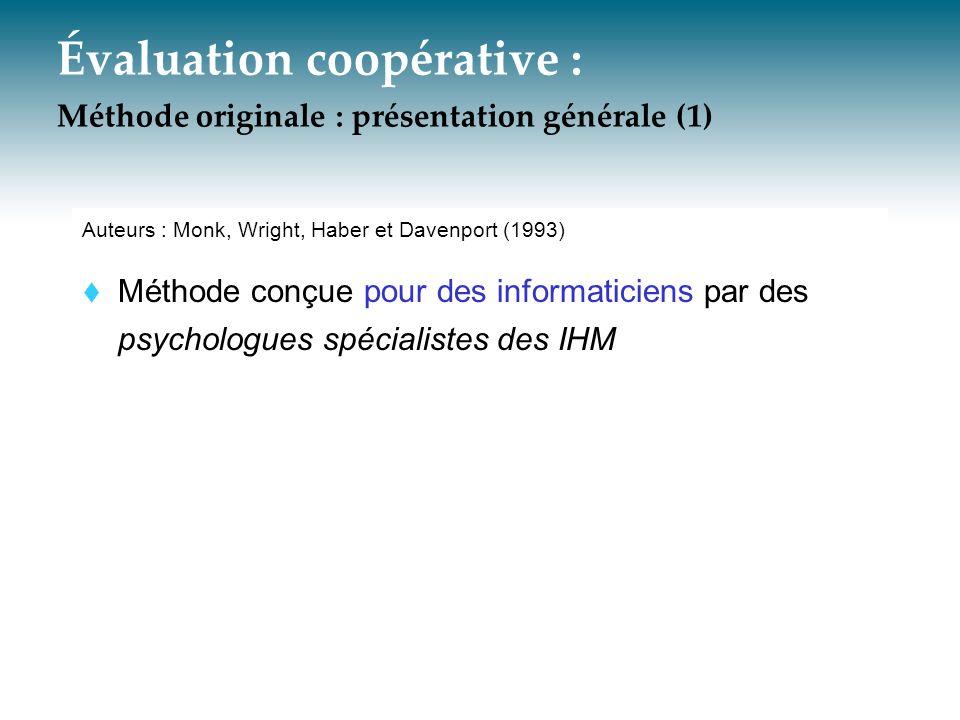Évaluation coopérative : Méthode originale : présentation générale (1)
