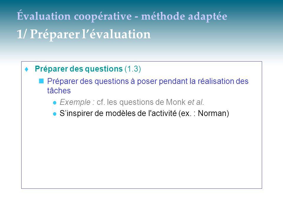 Évaluation coopérative - méthode adaptée 1/ Préparer l'évaluation