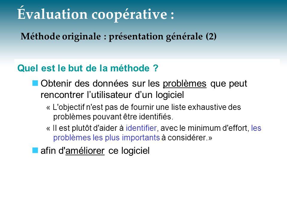 Évaluation coopérative : Méthode originale : présentation générale (2)