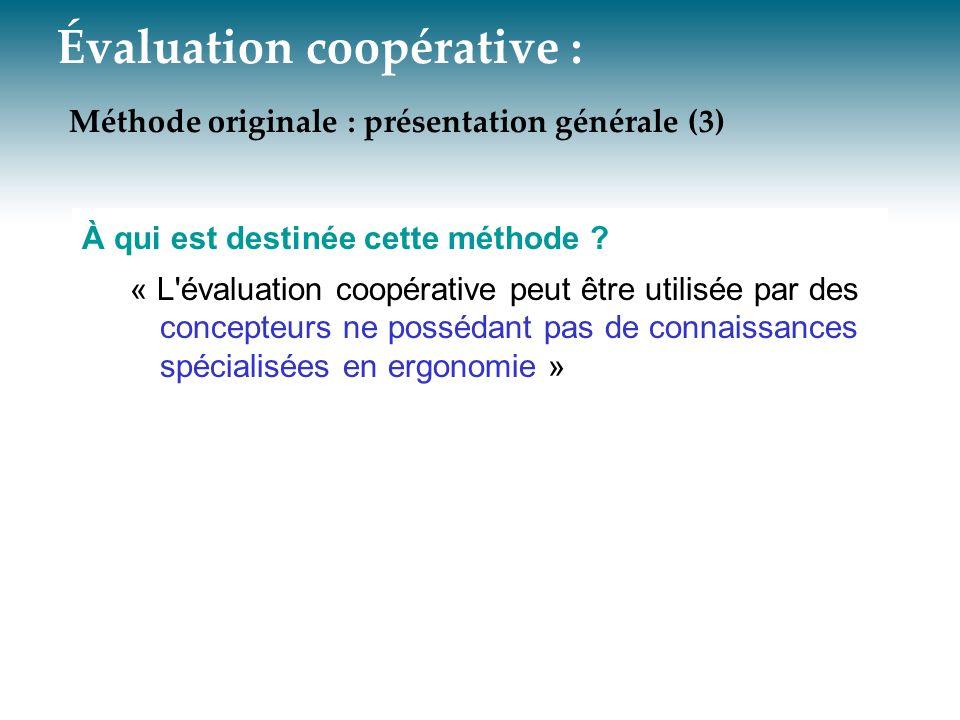 Évaluation coopérative : Méthode originale : présentation générale (3)