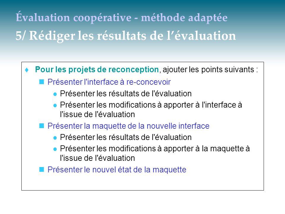 Évaluation coopérative - méthode adaptée 5/ Rédiger les résultats de l'évaluation