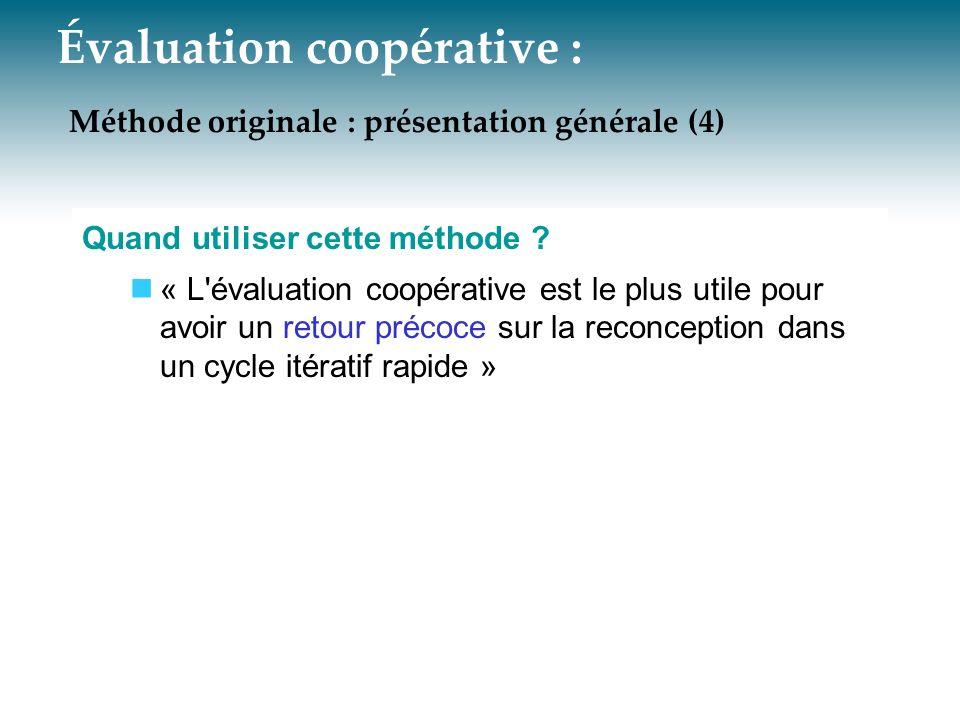 Évaluation coopérative : Méthode originale : présentation générale (4)