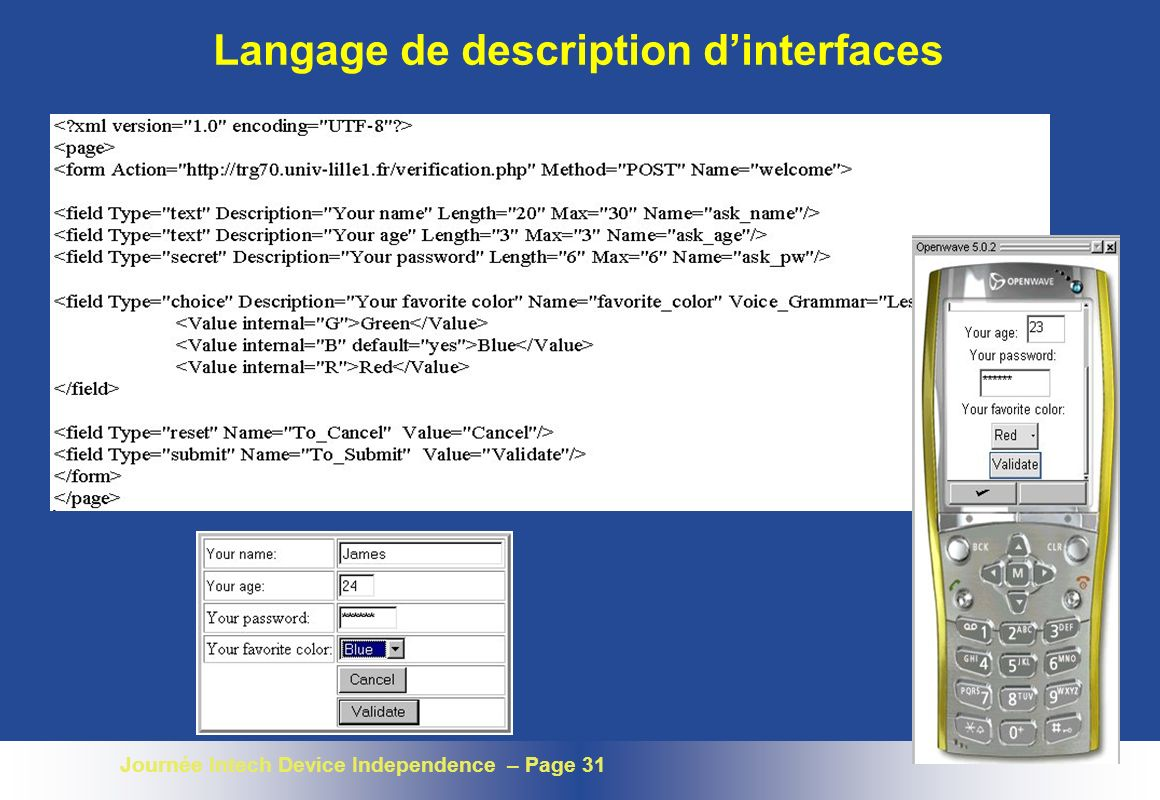 Langage de description d'interfaces