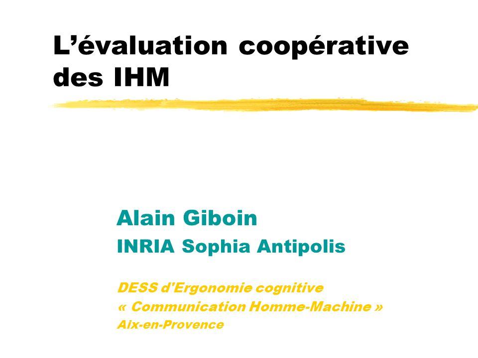 L'évaluation coopérative des IHM