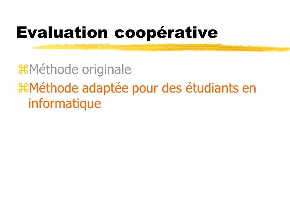 Evaluation coopérative