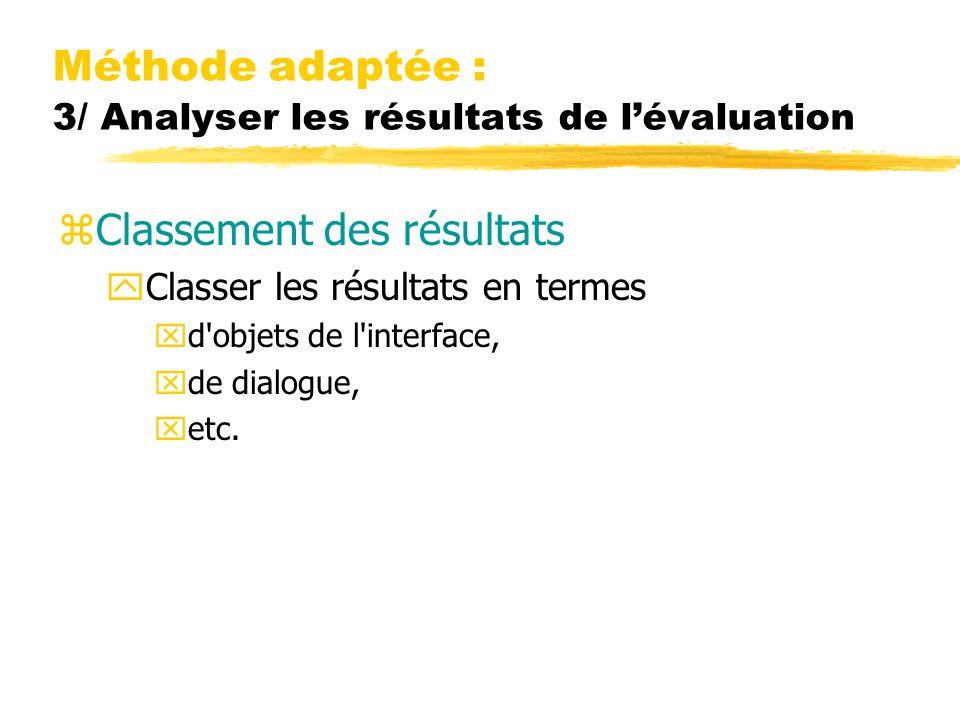 Méthode adaptée : 3/ Analyser les résultats de l'évaluation