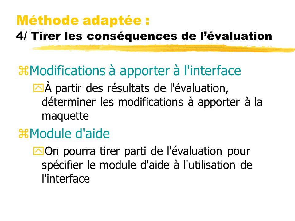 Méthode adaptée : 4/ Tirer les conséquences de l'évaluation