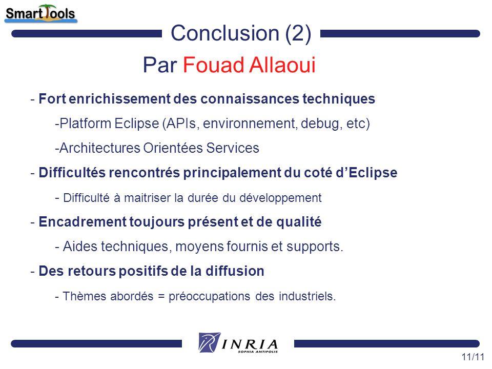 Conclusion (2) Par Fouad Allaoui