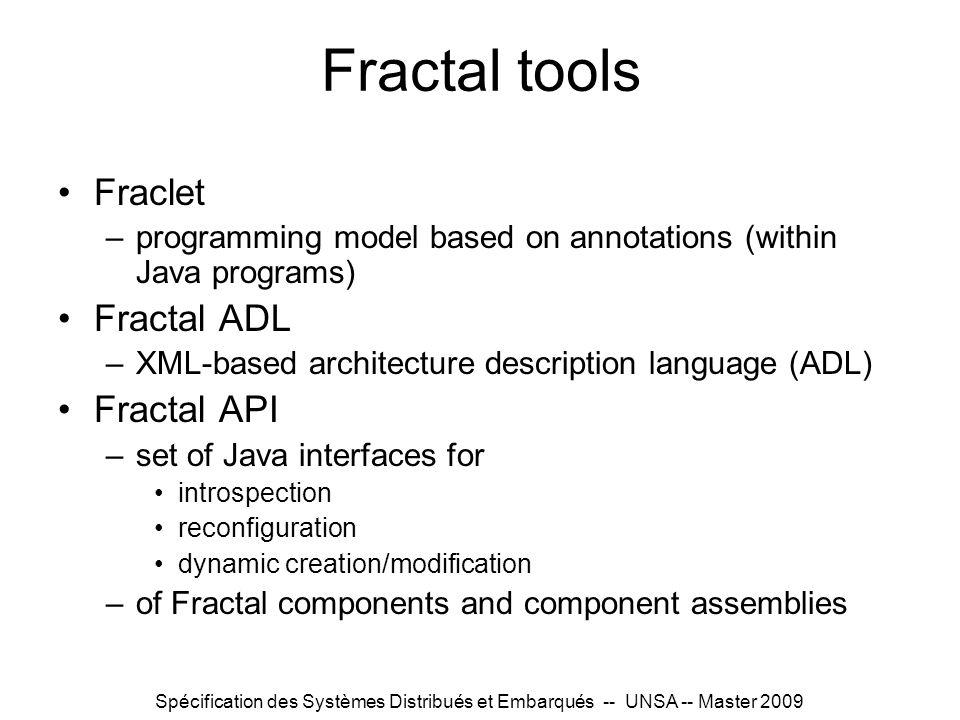 Fractal tools Fraclet Fractal ADL Fractal API