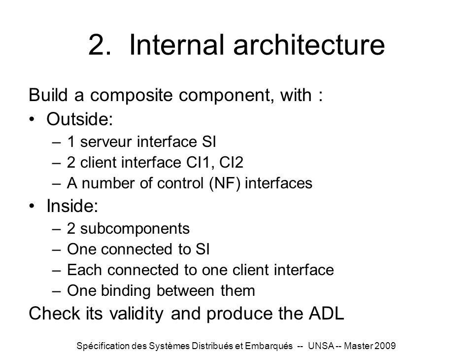 2. Internal architecture