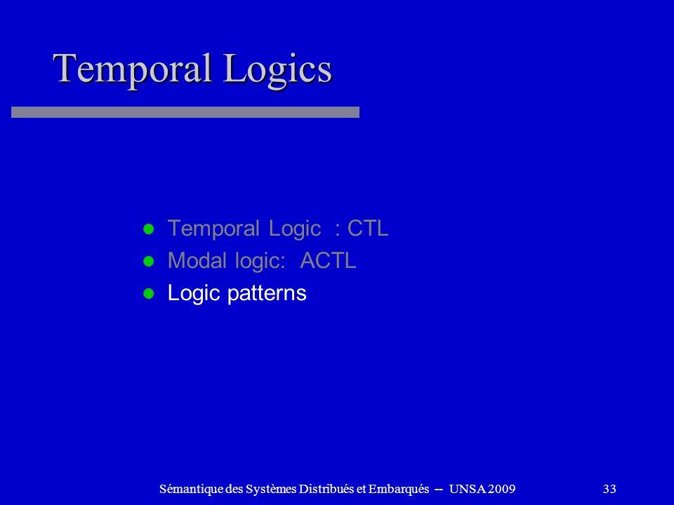 Sémantique des Systèmes Distribués et Embarqués -- UNSA 2009