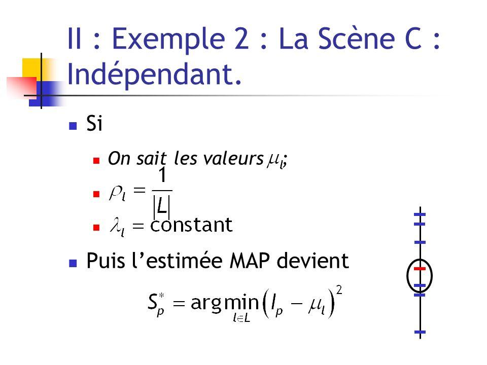 II : Exemple 2 : La Scène C : Indépendant.