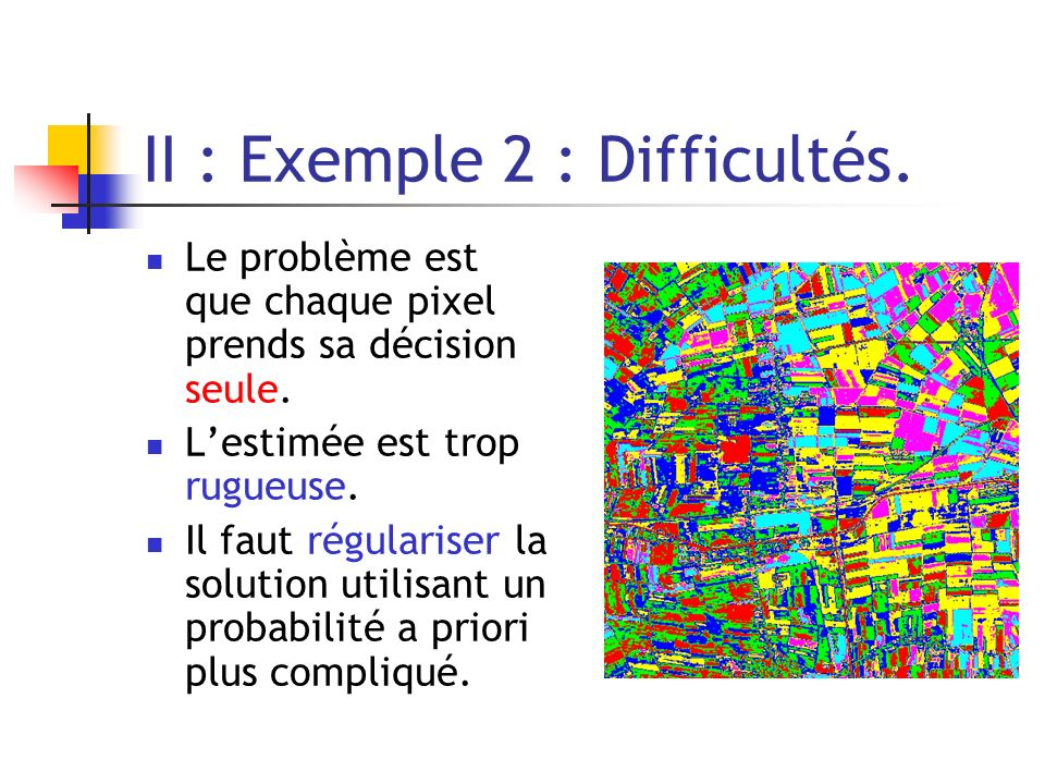 II : Exemple 2 : Difficultés.