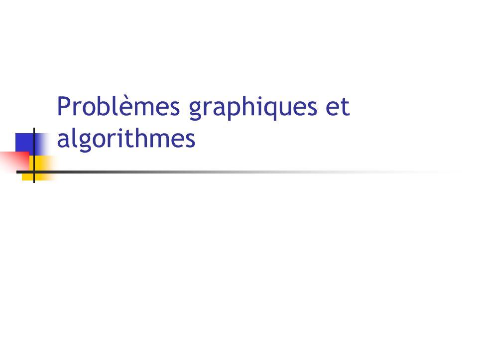 Problèmes graphiques et algorithmes