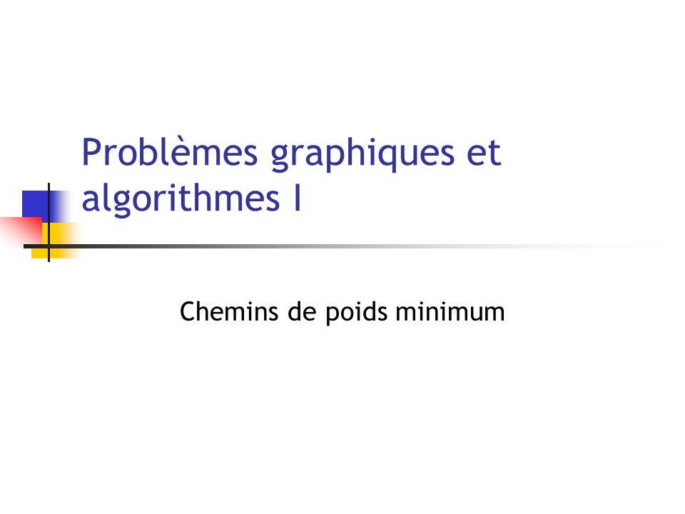 Problèmes graphiques et algorithmes I