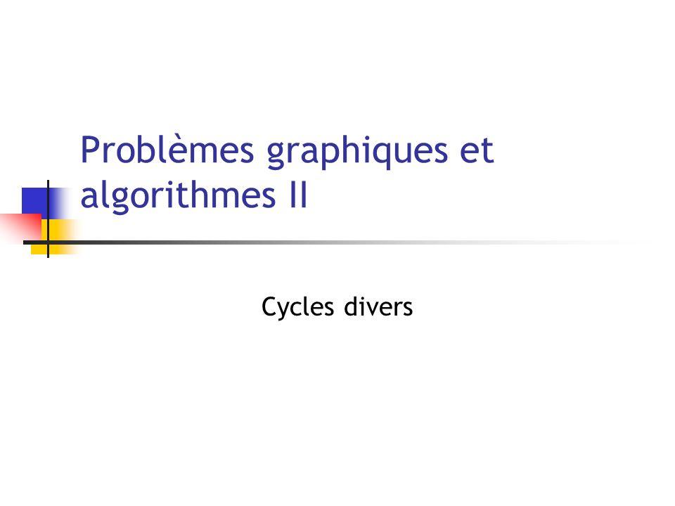 Problèmes graphiques et algorithmes II