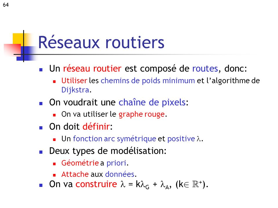 Réseaux routiers Un réseau routier est composé de routes, donc: