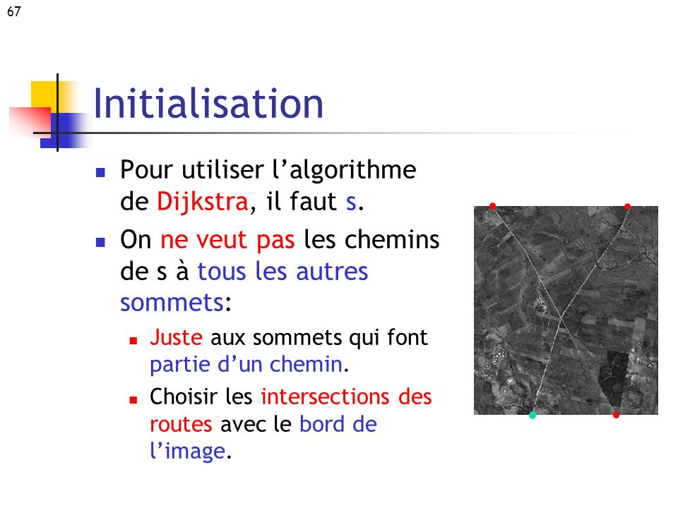 Initialisation Pour utiliser l'algorithme de Dijkstra, il faut s.