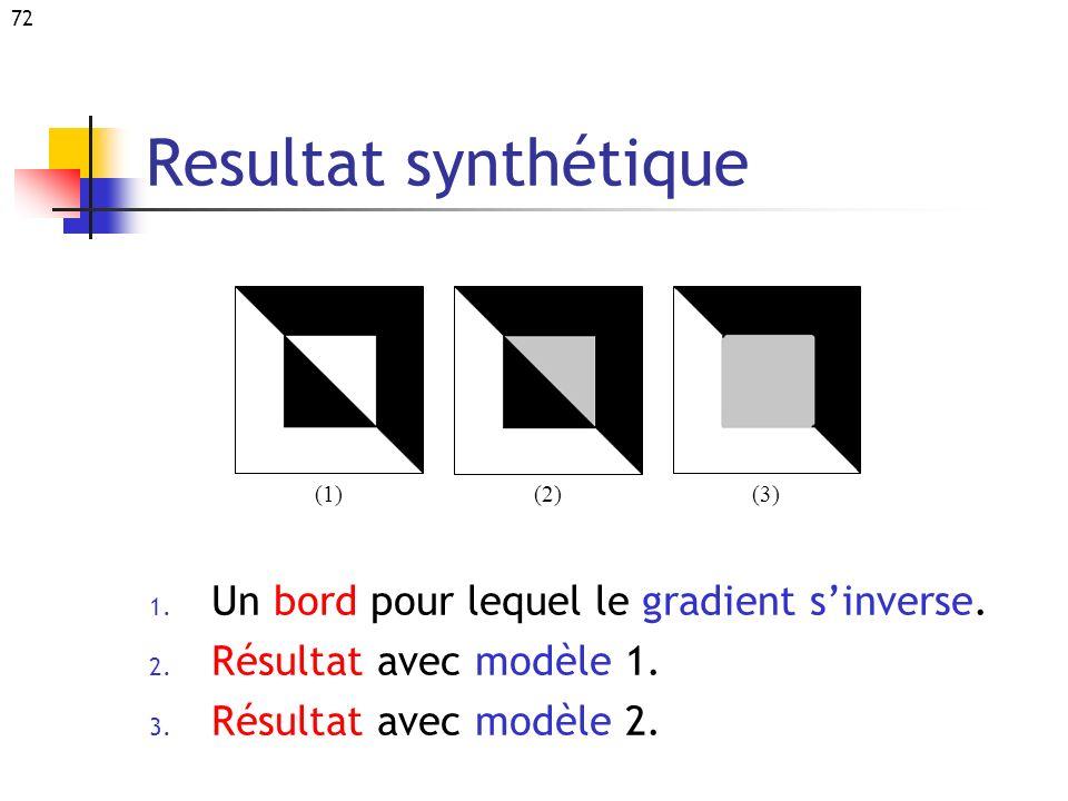 Resultat synthétique Un bord pour lequel le gradient s'inverse.