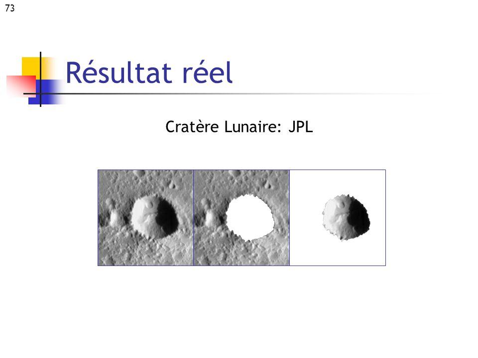Résultat réel Cratère Lunaire: JPL