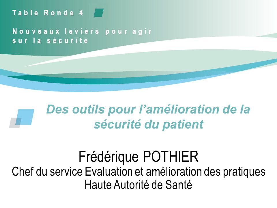 Des outils pour l'amélioration de la sécurité du patient