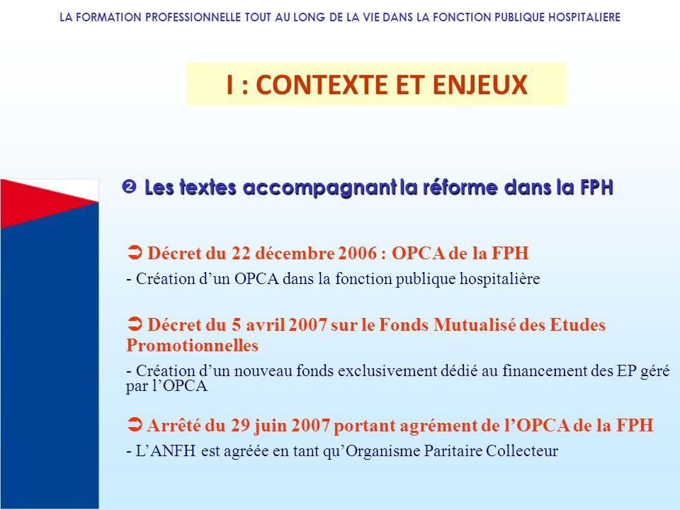 LA FORMATION PROFESSIONNELLE TOUT AU LONG DE LA VIE DANS LA FONCTION PUBLIQUE HOSPITALIERE