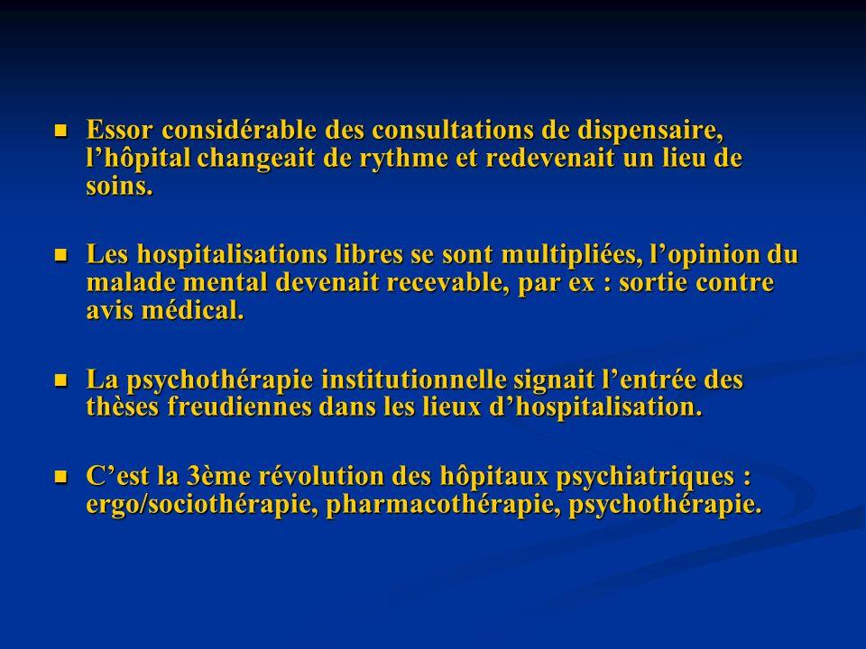 Essor considérable des consultations de dispensaire, l'hôpital changeait de rythme et redevenait un lieu de soins.